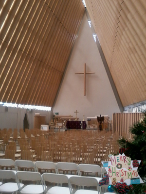 20. Dec - Carmel Rowlands, Christchurch Cardboard Cathedral, New Zealand